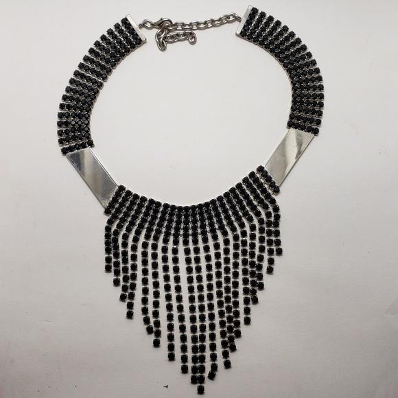 Jewelry - Custom Metal & Rhinestone Necklace 🔥